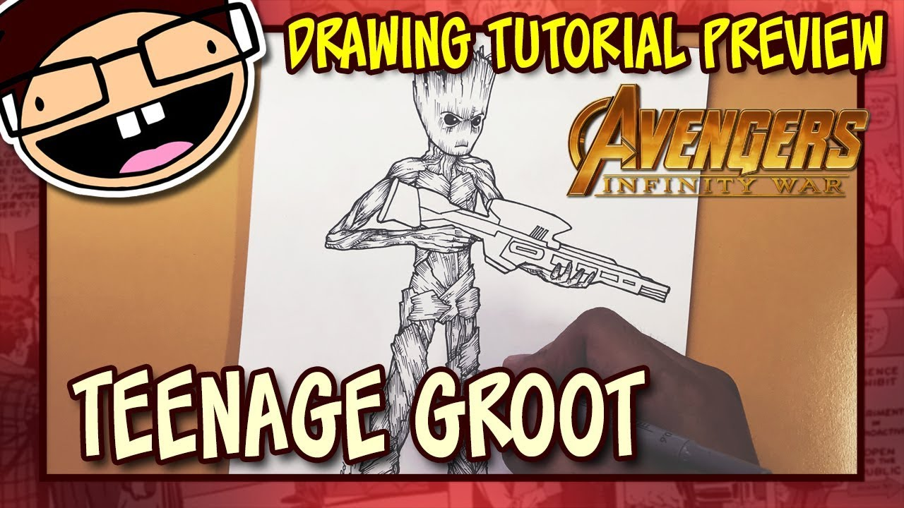 Preview How To Draw Teenage Groot Avengers Infinity War