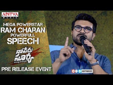 Mega Powerstar Ram Charan Powerful Speech @ Naa Peru Surya Na Illu India Pre Release Event