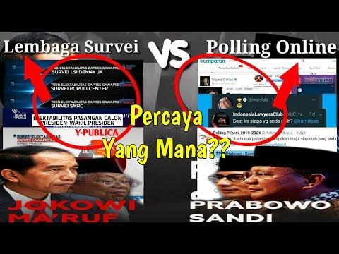 5 Lembaga Survei VS 5 Polling Online Sosmed Jokowi Vs Prabowo Siapa Yang Tangguh