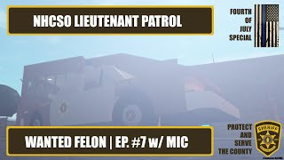 NHCSO Patrol #7 | Wanted Felon (feat. coolrichman111) | New Haven County | ROBLOX