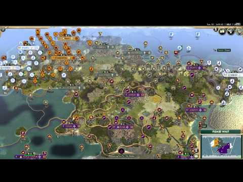 Full Civ 5 AI Only Game (Domination Only)