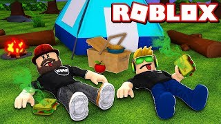 SOMEONE POISONED US WHILE WE WAS CAMPING in ROBLOX