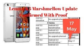 Lenovo K5 vibe Marshmellow Update - 2017(March)