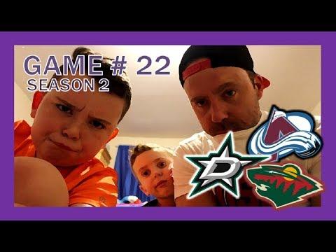 KNEE HOCKEY GAME # 22 - STARS / WILD / AVALANCHE - SEASON 2 - QUINNBOYSTV