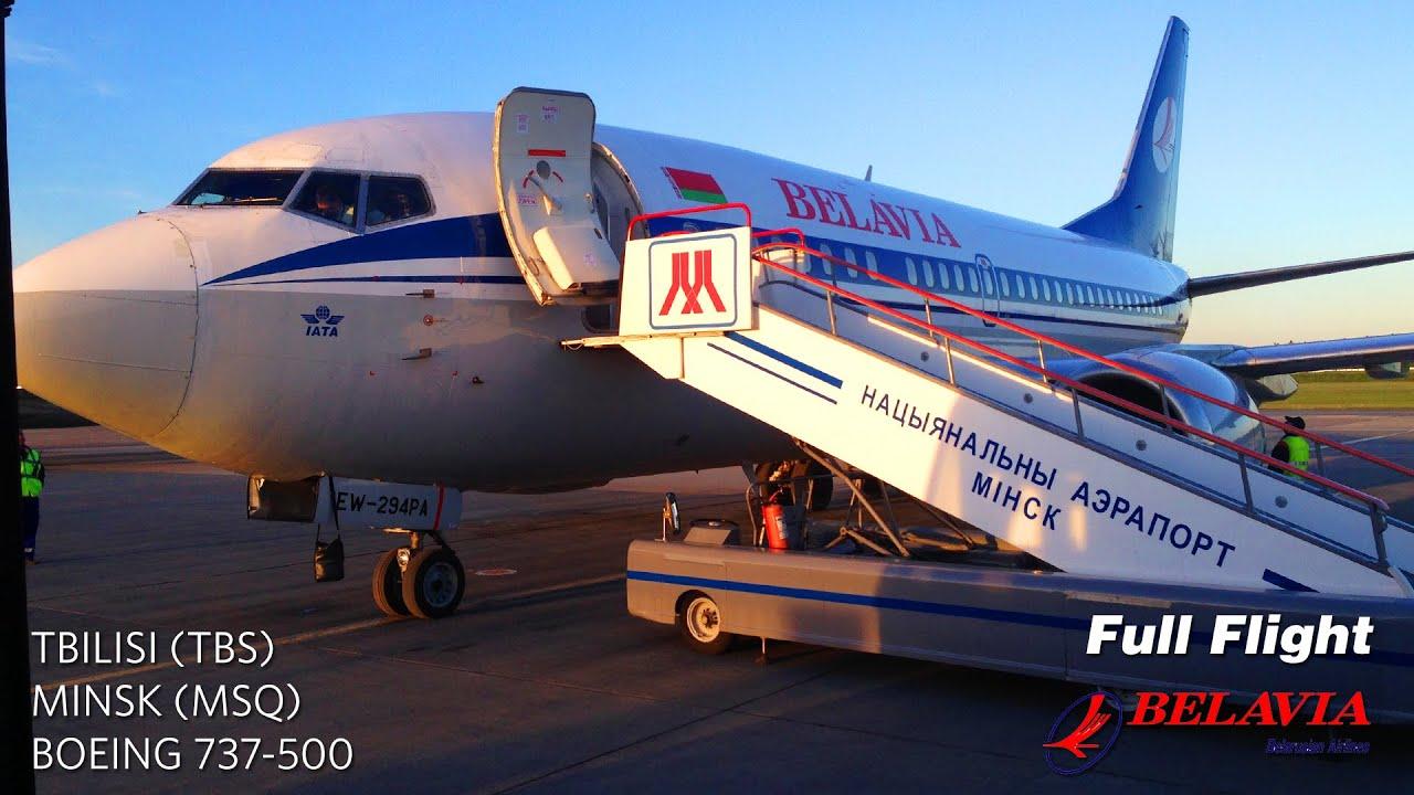 Belavia Boeing 737 500 Full Flight Tbilisi To Minsk Youtube