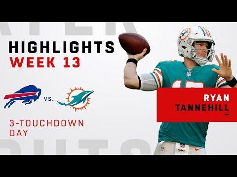 Ryan Tannehill's Triple-TD Game vs. Bills