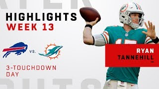 Ryan Tannehill's Triple-TD Game vs. Bills