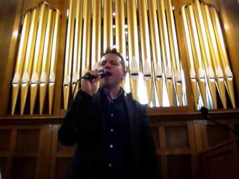 Justin McGurk singing, Derek Ryan's hit song Gods Plan