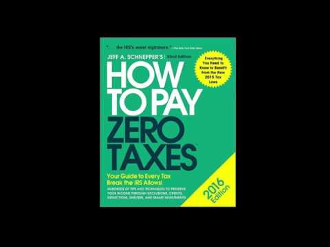 How To Pay Zero Taxes - Tax Attorney Jeff Schnepper