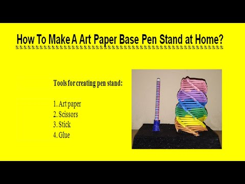 How To Make Pen Stand || Paper Pencil Holder|| 5 Minutes Craft DIY