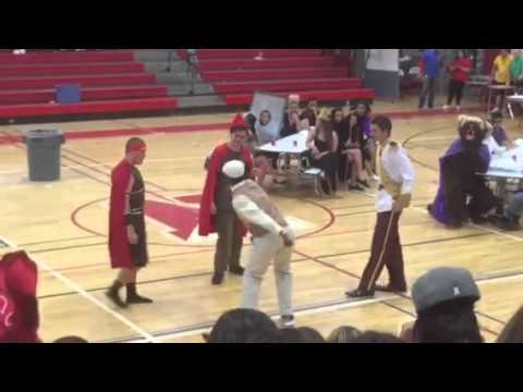 Newfield high school senior skit class competition 2015