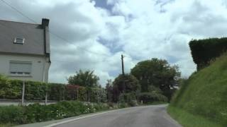 Driving Around Rostrenen 22110, Côtes d'Armor, Brittany, France 31st May 2014