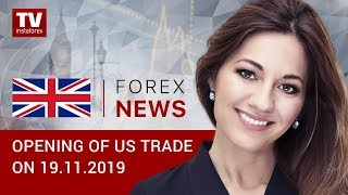 InstaForex tv news: 19.11.2019: Traders doubt that Fed to stand pat on rates (USDX, USD/CAD, BITCOIN)