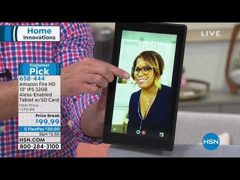 "Amazon Fire HD 10"" 32GB AlexaEnabled Tablet w/SD Card   ..."