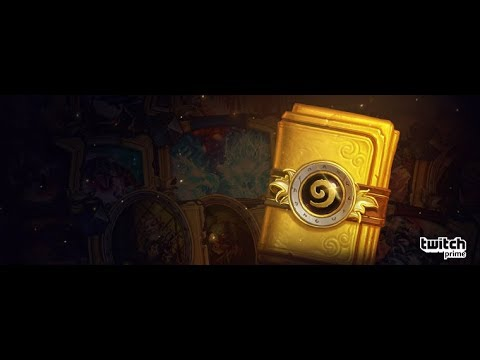 [HEARTHSTONE]- Opening Golden Classic Pack(twitch prime)- Legendaryyy!