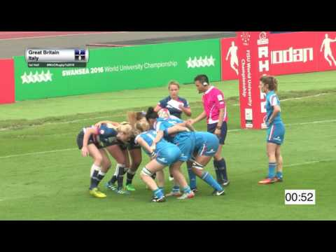 GBR v Italy (Women A)  7th World University Rugby 7 Championship 2016 – Swansea