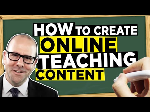 How to create online video teaching content