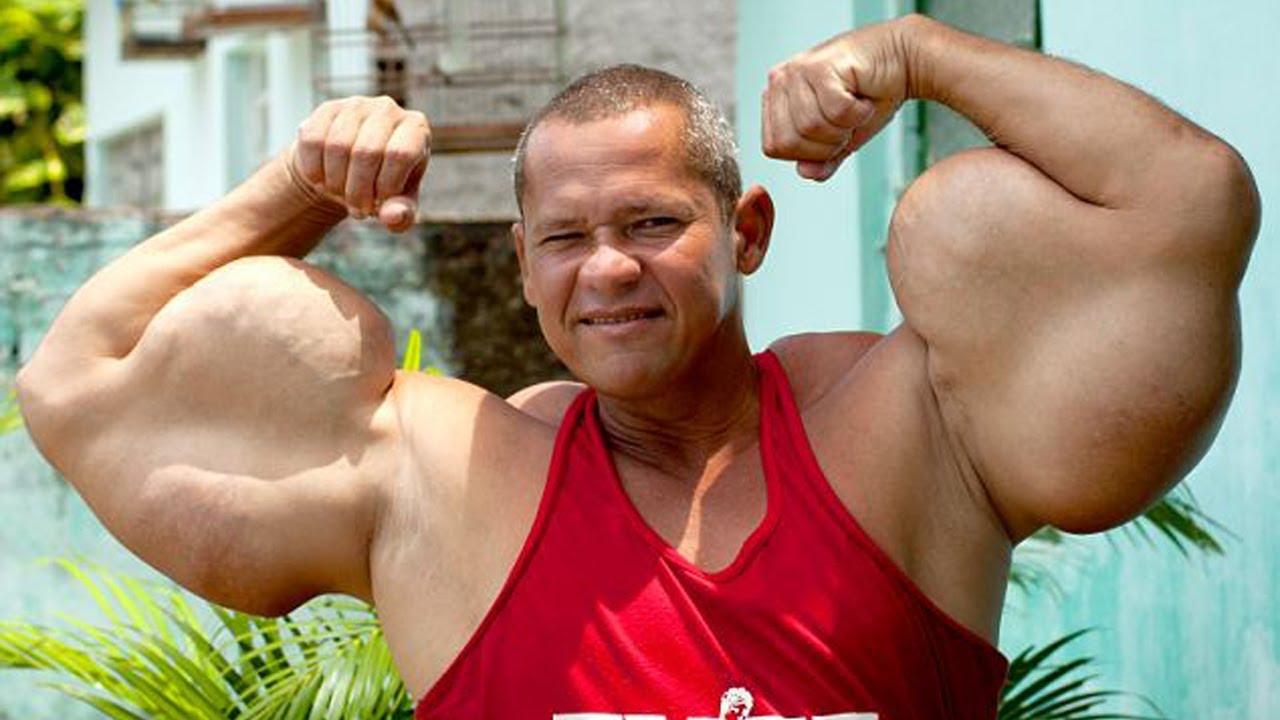 Biceps Flexing Bodybuilding