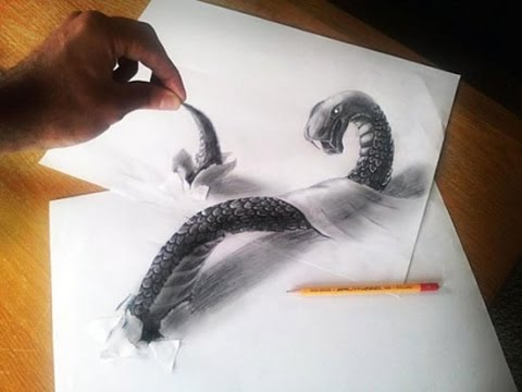 how to draw 3d art on paper a 3d painting model youtube