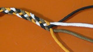 Trenzado plano con tres y cuatro cuerdas