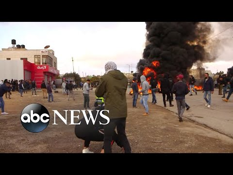 Violent protests erupt in Middle East after Trump declaration