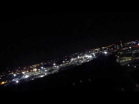 Nighttime Take Off Boston Logan International Airport SATA Airlines