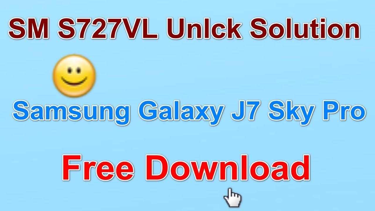 SM S727VL Unlck Solution Galaxy J7 Sky Pro