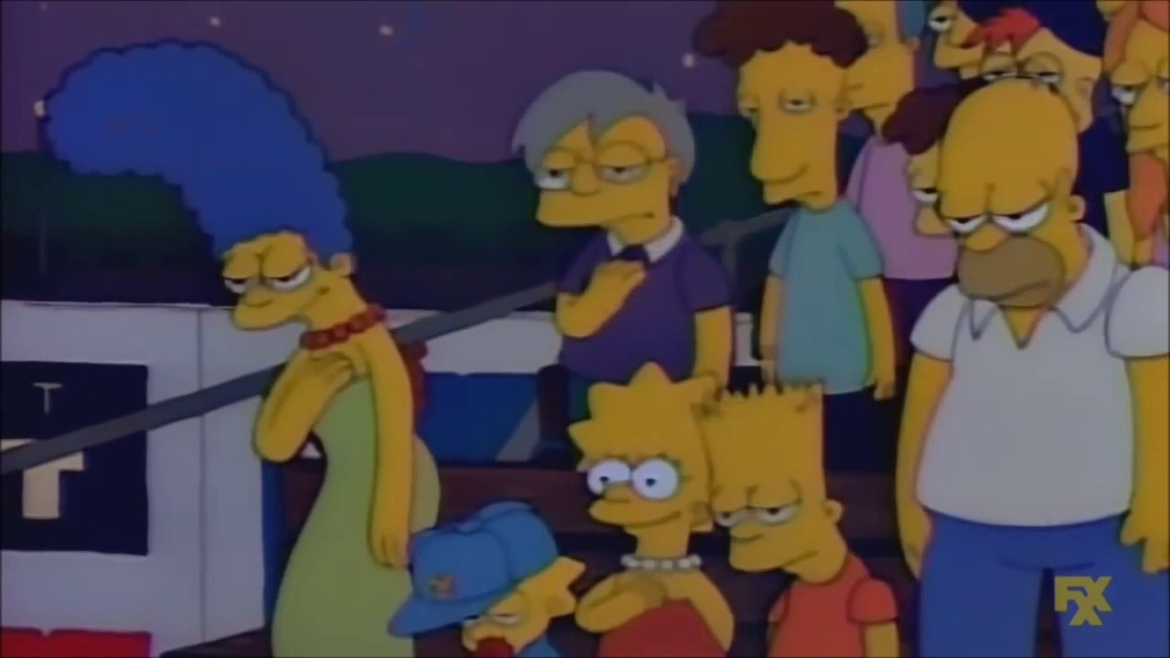 The Simpsons React To Aretha Franklin 39 S 2016 Thanksgiving National Anthem Youtube