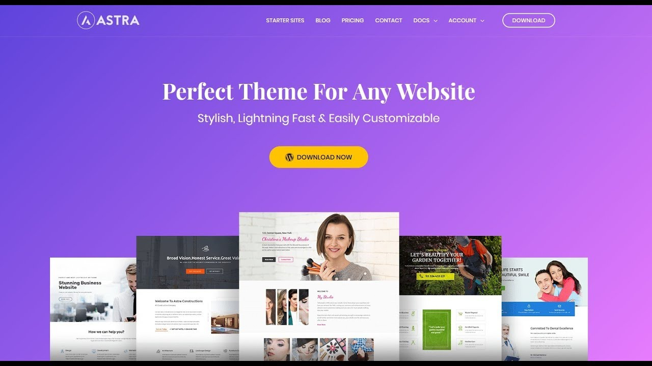 Astra Theme WordPress Tutorial 2018 I Best WordPress Elementor Themes Free - YouTube
