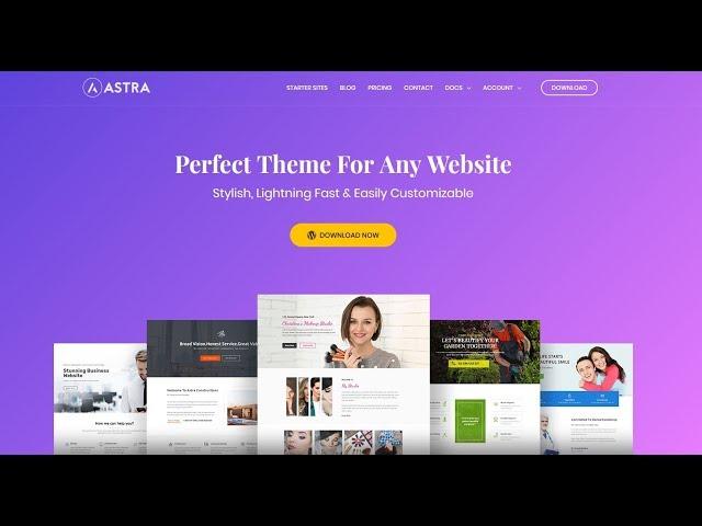 Astra Theme WordPress  Tutorial 2018 I Best WordPress Elementor Themes Free