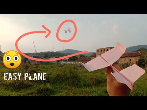 Membuat pesawat terbang jauh versi 2 dari kertas lipat (kerajinan kertas origami)