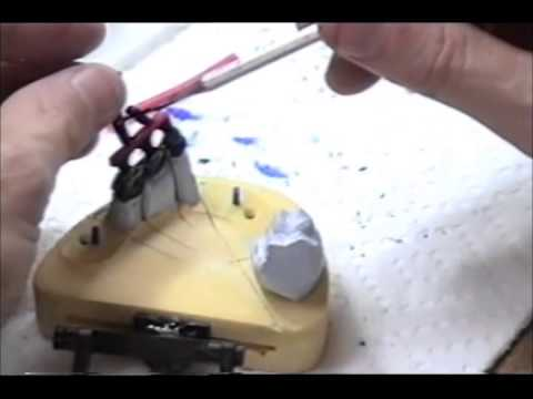 Dental PFM Wax Bridge indirect spruing method