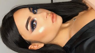 BLUE DRAMATIC Smokey Makeup Tutorial I Aylin Melisa