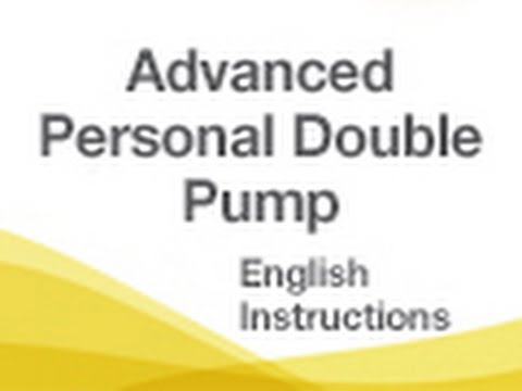 Medela Advanced Personal Double Breast Pump | English Instructions