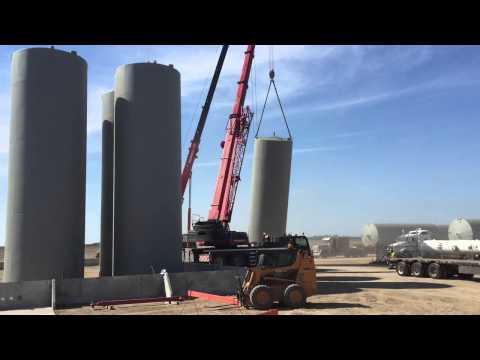 Cranes Lifting Fuel Tanks