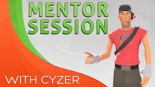 Mentoring session with invite scout Cyzer