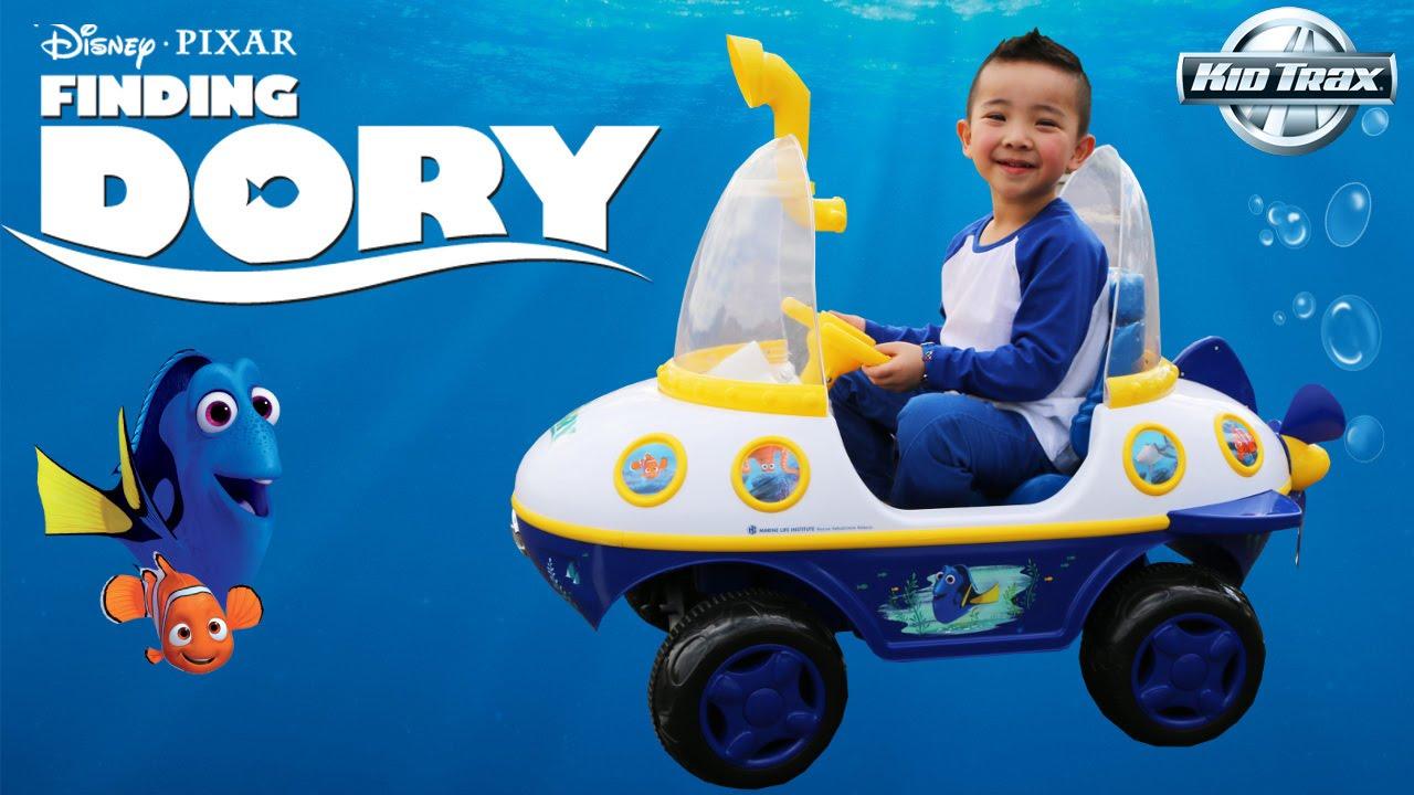 Unboxing Kid Trax Disney Pixar Finding Dory Submarine 6 Volt Battery