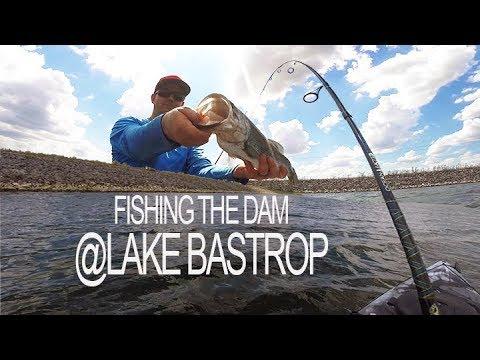 Lake Bastrop Fishing The DAM, Fighting The WIND
