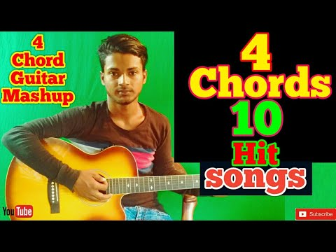 4 Chords 10 Best Songs Mashup /Easy Guitar Chords/Lessons/Tutorial/Guitar Cover/..By-Merajul Hoque