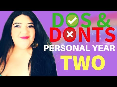 NUMEROLOGY: DOS AND DONTS OF PERSONAL YEAR # 2