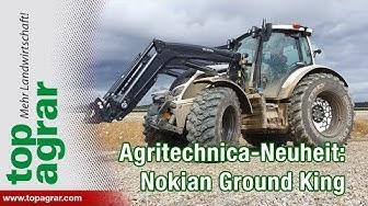 """Agritechnica-Premiere: Nokian präsentiert neuartigen Reifen """"Ground King"""""""