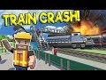 TRAIN DERAILS & CRASHES INTO STATION! - Tiny Town VR Gameplay - Oculus Rift VR Game