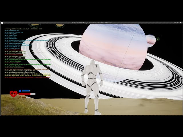 Shura Moon Orbiting the Gas Giant Planet Aurelia [UE4]