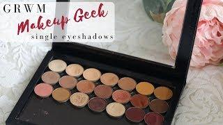 My Favourite Makeup Geek Single Eyeshadows - GRWM - mature/hooded eyes