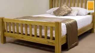 Time Living Denver Solid Oak Bed Frame