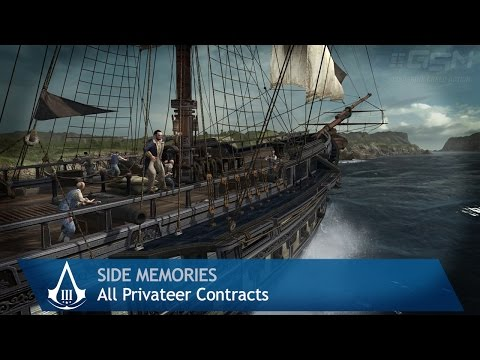Assassin's Creed 3 - Side Memories - All Privateer Contracts