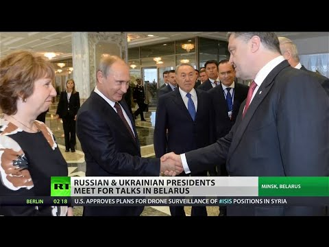 Putin and Poroshenko meet to ease Russian-Ukrainian tensions
