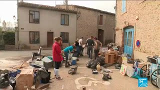 French President Macron visits Aude region after floods kill 14