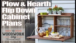 Create a woodworking plan in Sketchup. Plow and Hearth Flip down Cabinet Plans
