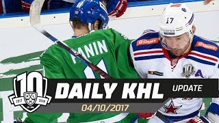 Daily KHL Update - October 4th, 2017 (English)